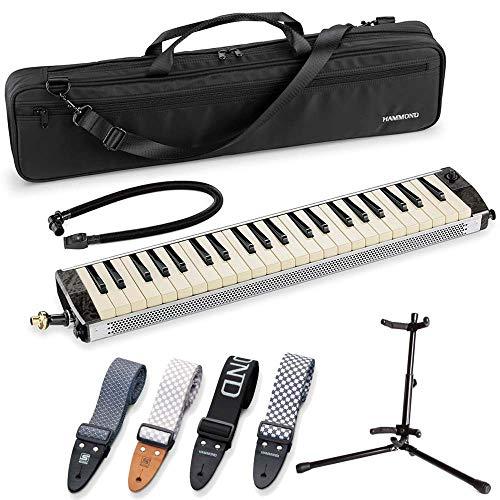 【ストラップ(KSS-1 青海波柄)+スタンドMST-01付】SUZUKI スズキ HAMMOND PRO-44HPv2 ピックアップマイク内蔵 エレアコ 鍵盤ハーモニカ