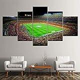 QQWER Cuadros Modernos Impresión De Imagen Artística Digitalizada   España FC Barcelona Deporteslienzo Decorativo para Salón O Dormitorio 5 Piezas