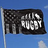 Elaine-Shop Drapeaux d'extérieur Worn-Out USA Flag Rugby Evolution 4 * 6 Ft Flag for Home Decor Sports Fan Football Basketball Baseball Hockey