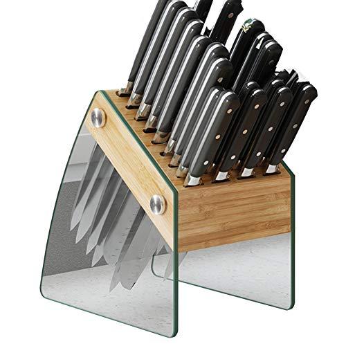 XER Cuchillo De Bambú Soporte Material De Cristal Apariencia Organizador Titular Conveniente Safeting Safe Safeting para Regalos De Catering
