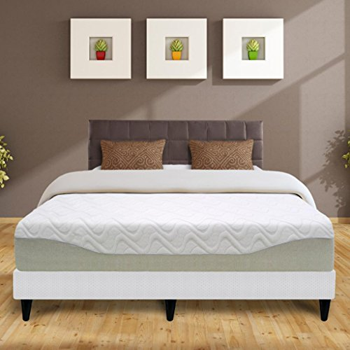 "Best Price Mattress 11"" Gel-Infused Memory Foam Mattress & New Innovative Steel Platform Bed Set - Queen"