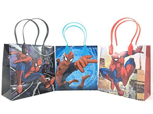 Spiderman Party Favor Goodie Small Gift Bags 12 Pcs