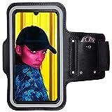 CoverKingz Sportarmband für Huawei P Smart (2019) - Armtasche mit Schlüsselfach P Smart - Sport Laufarmband Handy Armband Schwarz