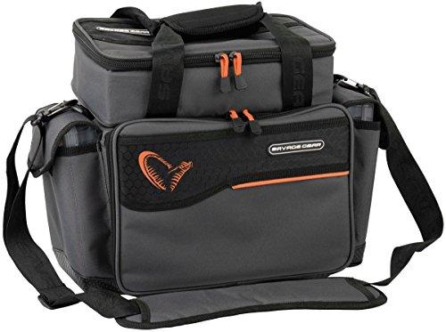 Savage Gear Lure Specialist Bag M Angeltasche inkl. 6 Angelboxen, Anglertasche für Kunstköder & Angelköder, Ködertasche, Angelbox, Köderbox