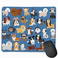 かわいい 犬柄 マウスパッド ゲーミング オフィス最適 防水 耐久性が良い 滑り止めゴム底 マウスの精密度を上がる 25x30cm