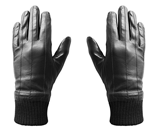 Hi-Fun hi-Glove Guanto touchscreen in pelle, taglia L,...