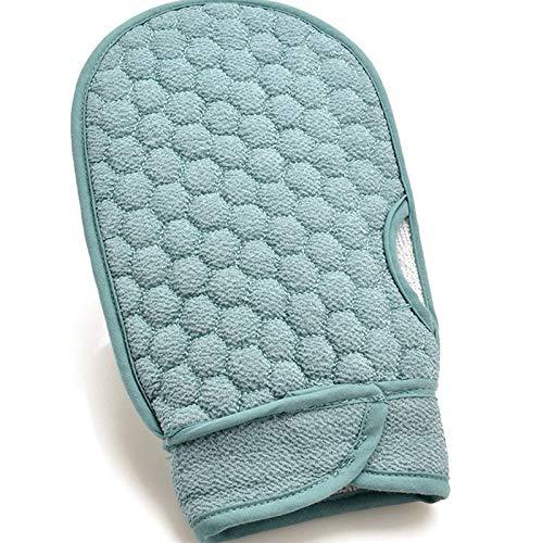 2020 Nuevos guantes de baño de ducha para baño corporal, exfoliante, masaje de limpieza, spa y hombres, mujeres, toalla de baño, guante de piel (color: azul)