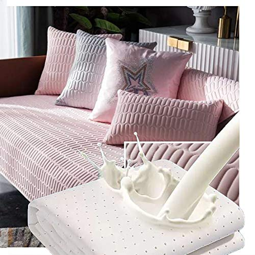 Dido´s Funda de sofá, Protector para sofá, Fundas Asientos Sofas. Funda cojín sofá de Látex, Anti-Suciedad, Acolchada, Cubre sofá Asiento Antideslizante, 3 plazas (Rosa 70 x 150 cm)