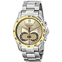 Victorinox Unisex Chrono Classic Analog Display Swiss Quartz Silver Watch