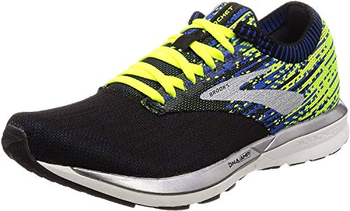 Brooks Herren Ricochet Laufschuhe, Schwarz (Black/Nightlife/Blue 004), 44.5 EU