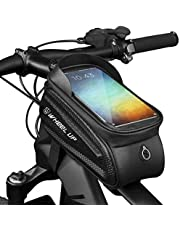 Wheel Up Bike Accessories Bike Bag Bicycle Bag Frame Front Waterproof Pouch Cycling Handlebar Tube Bag Touch Screen Mobile Phone Mount Holder Basket for Men, Women Repair Kit Storage Pannier up to 7