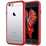 JETech Funda Compatible iPhone 6s Plus y iPhone 6 Plus, Anti-Choques y Anti-Arañazos, Rojo