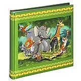 Hama Kinderalbum Jungle Animals, Kinder-Fotoalbum mit 50 weißen Seiten für bis zu 100 Fotos im Format 10x15, buntes Kinder-Fotobuch zum selbstgestalten, 25x25 cm, Dschungel Motiv mit Tieren, grün