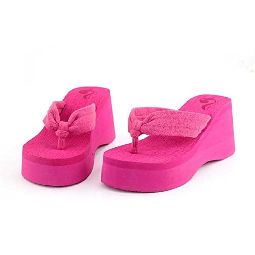 70b4e5010f175a Maybest Ladies Summer Platform Wedge Beach Flip Flop Sandals High Heels Shoe  FBA