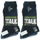 Dunlop 6 Pairs Herren Mid Calf Socken - All Use - Baumwolle - Feuchtigkeitskontrolle (Blau Mix, 39-42)