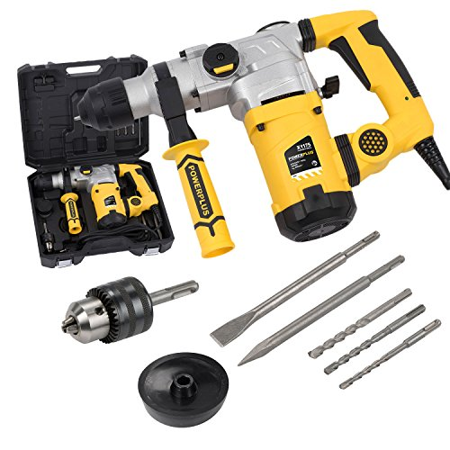 Powerplus POWX1175 drill SDS Nero, Metallico, Giallo 800 Giri/min