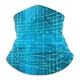 Jwohek Future Technology Microfibra Calentador de cuello Sombreros Bufanda Clima frío Invierno Deportes al aire libre Bandana Balaclava Unisex