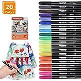 Willingood 20 Pack Fabric pens | Permanent Fabric Marker pens | Fabric pens