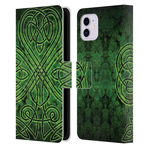 Head Case Designs Officially Licensed Brigid Ashwood Irish Shamrock Celtic Wisdom 3 Leather Book Wallet Case Cover Compatible with Apple iPhone 11