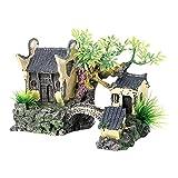 Ruby569y Casa de muñecas para bricolaje, casa de rocos artificiales decorativa vívida segura simulación de acuario piedras artificiales de construcción para peces - A