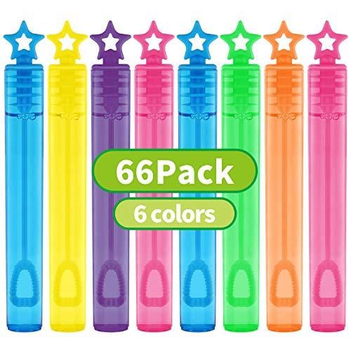 66 Pieces Mini Bubble Wands,Bubble Party Favors Assortment Toys for...