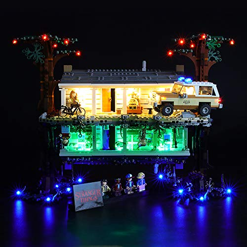 LIGHTAILING Jeu De Lumières pour (Stranger Things The Upside Down) Modèle en Blocs De Construction - Kit De Lumière A LED Compatible avec Lego 75810(Ne Figurant Pas sur Le Modèle)