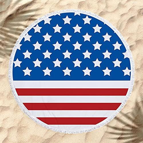 IAMZHL Asciugamano da Spiaggia Rotondo Nappa Floreale Tappetino da Yoga Coperta Rotonda Asciugamano da Spiaggia in macramè Asciugamano da Spiaggia Rotondo in Microfibra-a4-150X150CM