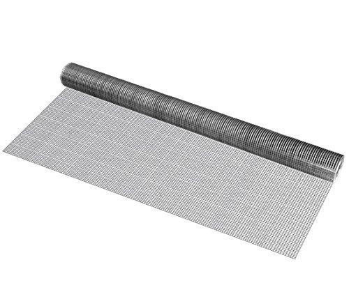 [pro.tec] 10 Rollos de Malla de Alambre (Cuadrados)(1m x 5m)(galvanizado) Valla de Tela metálica Cerca