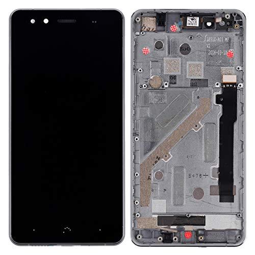 Pantalla LCD compatible con BQ Aquaris X5 (negro + marco), pantalla táctil,...