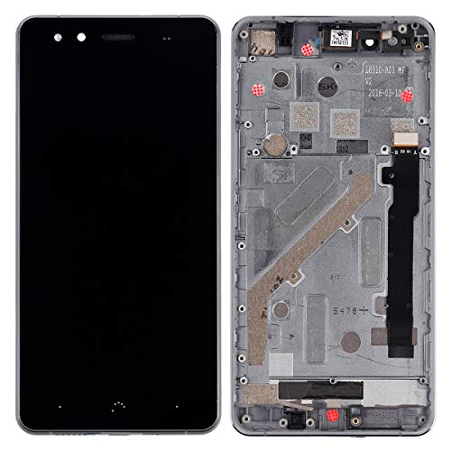 Pantalla LCD compatible con BQ Aquaris X5 (negro + marco), pantalla táctil, digitalizador, cristal de montaje, herramientas