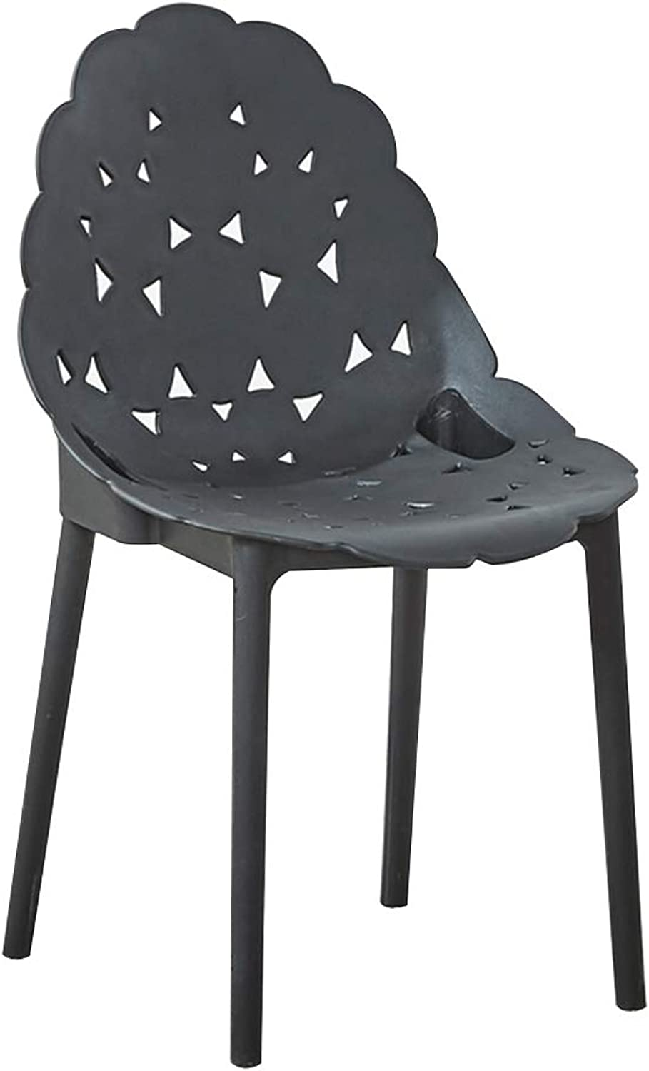 Chair Chair, Cave Chair One-Piece Design of Ergonomic Curve Household Balcony Rest Area Lounge Chair 5 colors (color   Black)