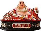 MXCHEN Buddha Estatua Decoración del hogar Riendo Buda Mano