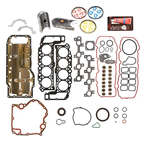 Evergreen Engine Rering Kit FSBRR8-30400EVE Compatible With 99-03 Dodge Dakota Durango Jeep 4.7 SOHC Full Gasket Set, Standard Size Main Rod Bearings, Standard Size Piston Rings