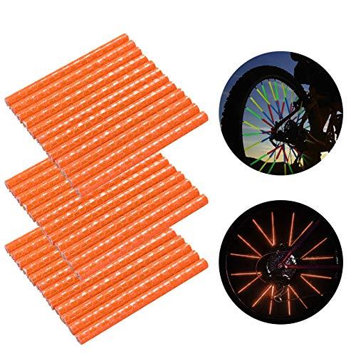 Speichenreflektoren Fahrrad,360° Sichtbarkeit Reflektoren,Fahrradzubehör Reflektoren,Reflektor Clips Fahrrad,Reflektierende Speichensticks,Speichenreflektoren für Sicheres Fahren (36 Stück,orange)