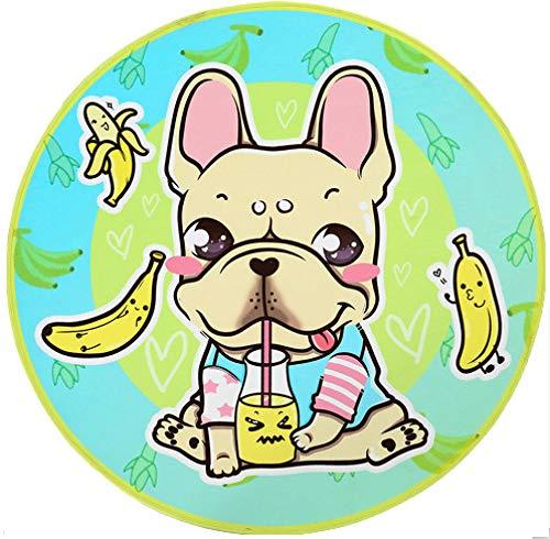 Materasso Per Cani,Estate Materasso Cane Cane Dorme Rug Cartoon Bulldog Francese Banana Pattern Coperta Impermeabile Lavabile Gatto Cane Divano Letto Tour Portatile Camping Accessori Per Animali,S