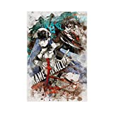 Akame Ga Kill Anime Esdeath Vs Akame Poster Decorative Painting Canvas Wall Art Living Room Posters Bedroom Painting 24×36inch(60×90cm)