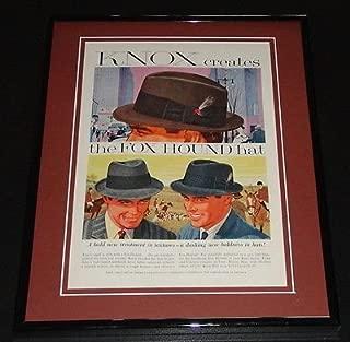 1958 Knox Fox Hound Hat 11x14 Framed ORIGINAL Vintage Advertisement