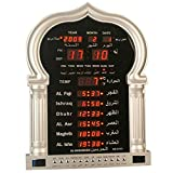 ROYAL WIND Azan Clock Large for Home Or Masjid with LED Display with LED Display Complete Azan 5115 (Gold)