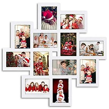 white collage photo frame