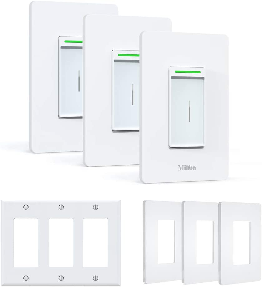 Milfra 3-Pack Smart WiFi Light Switch  $18.40 Coupon