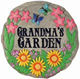 STEPPING STONE - Spoontiques' stepping stones and decorative plaques are a lovely way to brighten up your indoor or outdoor space. FUN AND FUNCTIONAL - Spruce up your garden or walk with a beautiful hand-painted garden stone. Featuring bright flowers...