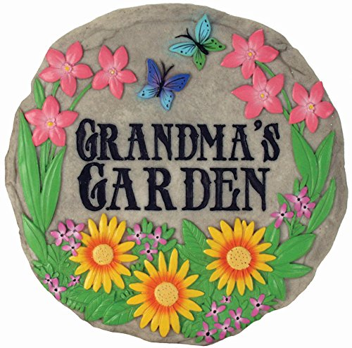 Spoontiques - Garden Décor - Grandma's Garden Stepping Stone - Decorative Stone for Garden