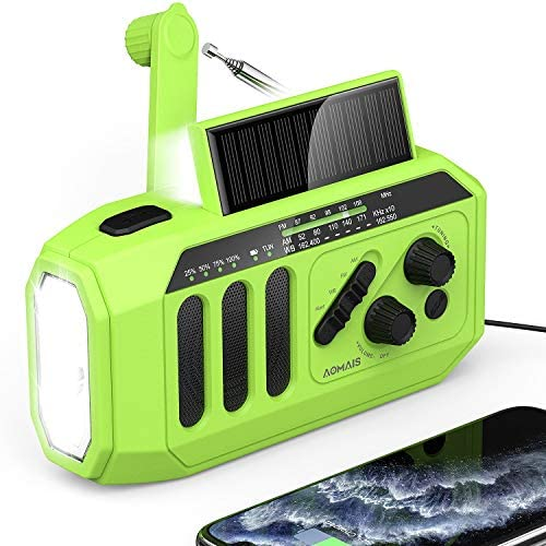 2021 Newest Emergency Solar Hand Crank Radio 5000mAh Weather Radio NOAA AM FM Portable Radio product image