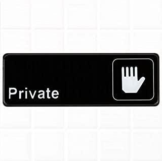 Private Sign for Door - Black and White, 9 x 3-inches Private Sign for Office Door, Private Door Sign by Tezzorio