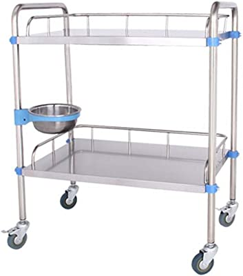 8db45b4d5bdc Trolley Rack Stainless Steel Trolley-Double Cart Trolley Trolley Care  Dressing Medical Cart Clinic Beauty
