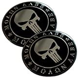 ALUMINUM 2nd Amendment Decal Sticker Bumper Molon Labe Right To Bear Arms NRA (Molon Labe Dome Shape (2 Pack))