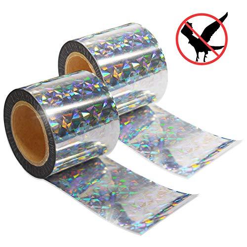 ASPECTEK 60 m x 5 cm Vogelabwehr Vogelband zur Abschreckung, Abwehrband Vogel Band Reflexion Reflektorband zur Vogelabwehr