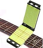 scrubber per chitarra - pulisci corde per chitarra basso chitarra elettrica durevole pulitore per tastiera strumenti a corda strumento (nero)