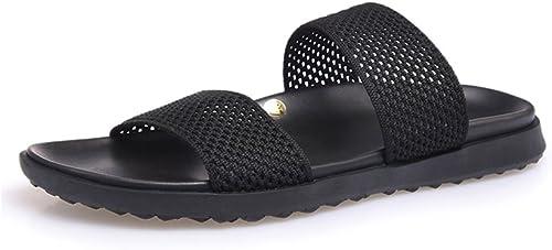 JIANXIN Maille D'été Mode Mode Porter Flip-Flops Hommes Trend Joker Pantoufles Sandales (Taille   EU 38 US 8 UK 6)  bienvenue à choisir