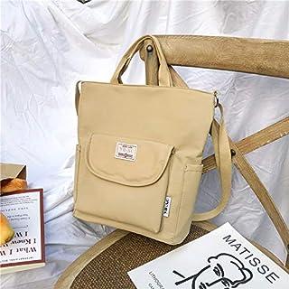 HAWEEL Foldable Travel Bag, Anti-Splash Nylon Fabric Single Shoulder Messenger Bag Ladies Handbag Bags (Black) (Color : Brown)